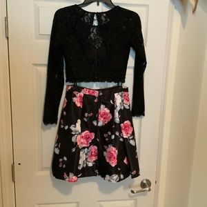 Sequin hearts size 5 skirt and top